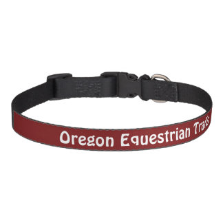 """Cuello de perro con """"los rastros del Equestrian de Collares Para Perros"""