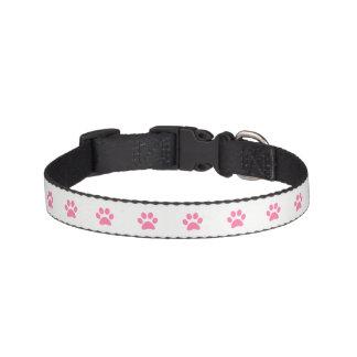 Cuello de perro rosado de la impresión de la pata collar para mascotas