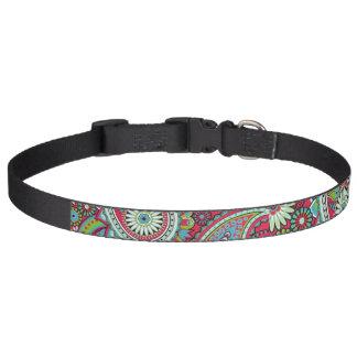 Cuello de perro rosado de Paisley Collar Para Mascotas