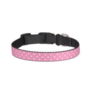 Cuello de perro rosado del lunar collar para mascotas