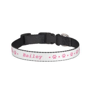 Cuello de perro rosado del lunar de la impresión collar para mascotas