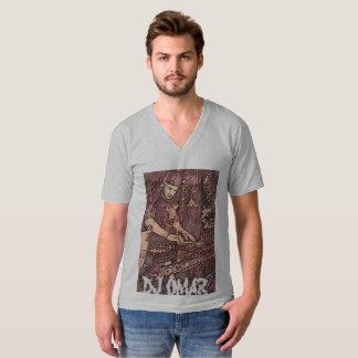 Cuello en v de DJ Omar Camiseta