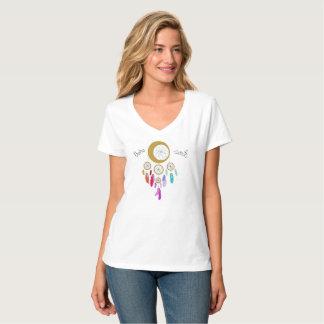 Cuello en v del alma de Boho Camiseta