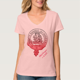 Cuello en v del rosa de la clase de MacGregor Camiseta