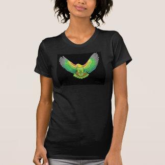 Cuello en v dirigido amarillo doble del Amazonas Camisetas