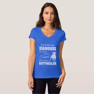 Cuello en v T-Shir del jersey de la lona de las