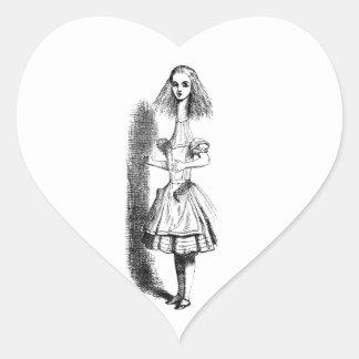 Cuello largo Alicia Pegatina En Forma De Corazón