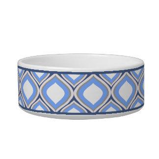 Cuenco de cerámica azul del perro de Ogee de la