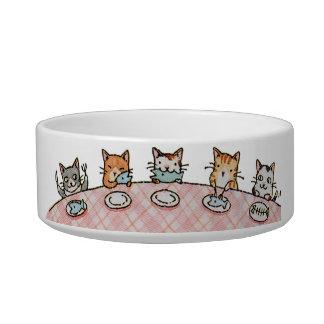 Cuenco de cerámica del gato del mascota del
