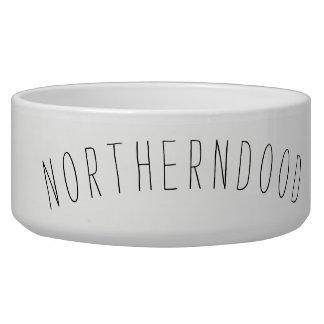 Cuenco de cerámica grande del perro