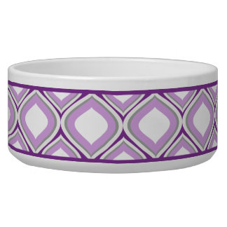 Cuenco de cerámica púrpura del perro de Ogee