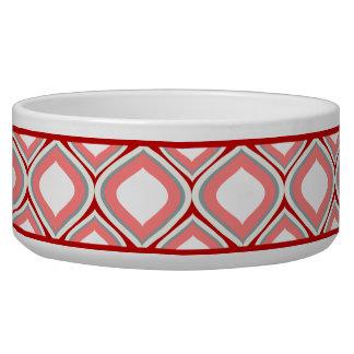 Cuenco de cerámica rojo del perro de Ogee del