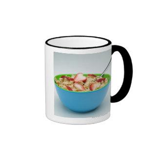 Cuenco de cereal taza de café
