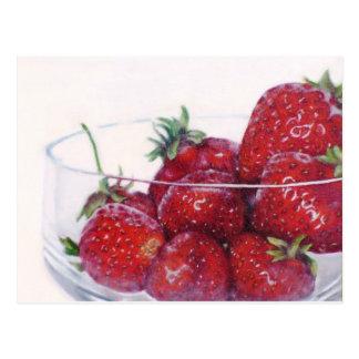 Cuenco de fresas postal