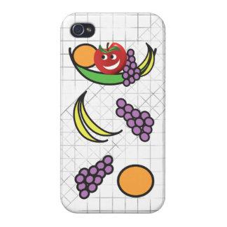 Cuenco de fruta divertido iPhone 4/4S funda