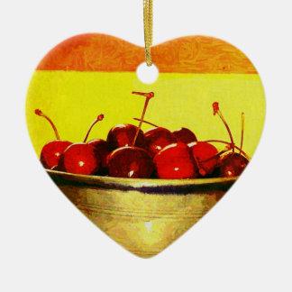 Cuenco de la cereza ornamento para arbol de navidad