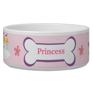 Cuenco de la comida de perro casero de princesa Cu Tazones Para Perro