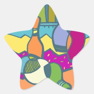 Cuenco de la estrella de deporte del extracto de calcomania forma de estrella personalizada