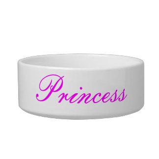 "Cuenco de la ""princesa"" mascota comedero para mascota"