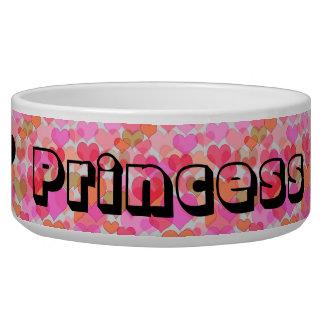 Cuenco de los alimentos para niños de princesa