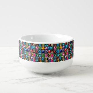 Cuenco De Sopa Arte redondo de la chispa de los diseños de los