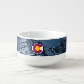Cuenco De Sopa Bandera de la circular de Colorado