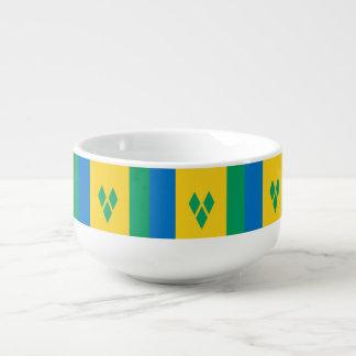 Cuenco De Sopa Bandera de San Vicente y las Granadinas