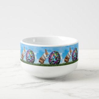 Cuenco De Sopa Conejo que empuja el huevo de Pascua - 3D rinden