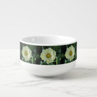 Cuenco De Sopa Flor amarilla clara de la dalia
