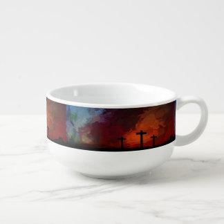 Cuenco De Sopa La cruz del amor de la esperanza de la fe cree el