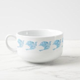 Cuenco De Sopa Paloma elegante inspirada de la nube de la