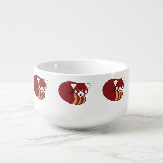 Cuenco De Sopa Panda roja