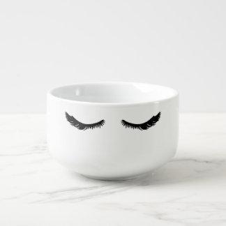 Cuenco De Sopa Pestañas negras bonitas