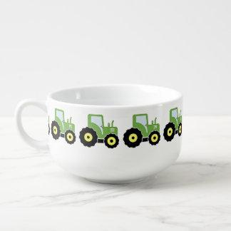 Cuenco De Sopa Tractor verde del juguete