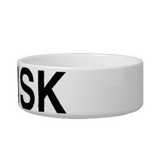 Cuenco del mascota de SISK