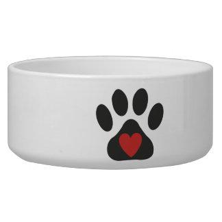Cuenco del mascota del amor del perro comedero para mascota
