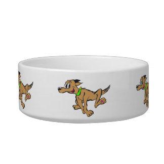 Cuenco del mascota del dibujo animado del perro