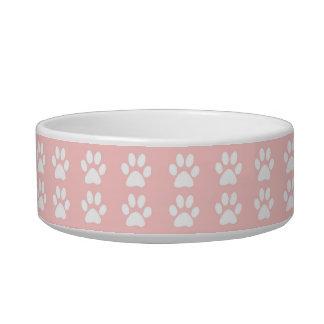 Cuenco del mascota - patas blancas en rosa comedero para mascota