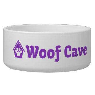 Cuenco del perro de la cueva del tejido