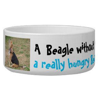 Cuenco hambriento del beagle comedero para mascota