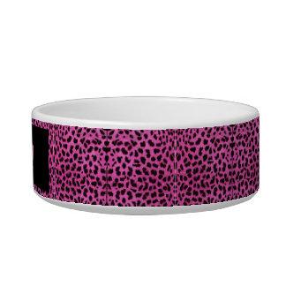 Cuenco para animales de cerámica Leopardo