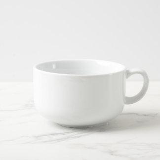 Cuenco para sopa de encargo de la porcelana del