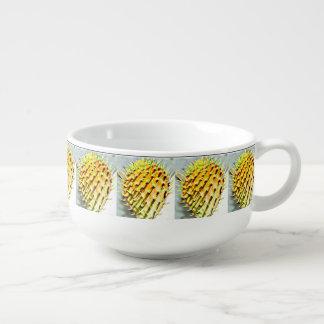 Cuenco para sopa de la paleta del cactus del higo