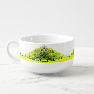 Cuenco para sopa de los árboles de la