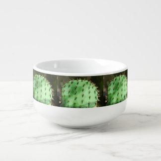 Cuenco para sopa del cactus del higo chumbo