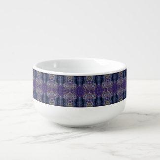 cuenco para sopa púrpura del diamante