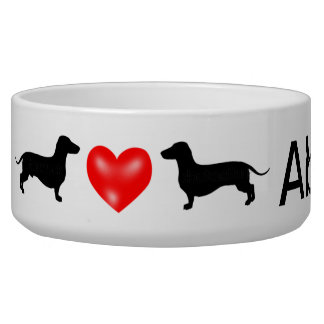 Cuenco personalizado del perro del Dachshund