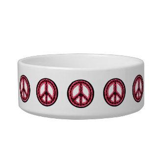Cuenco rojo del mascota de la paz comedero para mascota