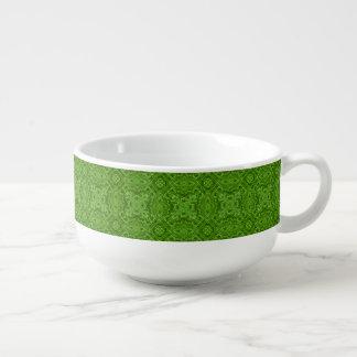 Cuencos para sopa verdes del caleidoscopio que van