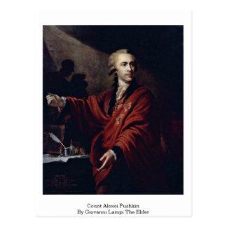 Cuenta Alexei Pushkin de Juan Lampi la anciano Tarjetas Postales